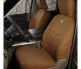 Custom Covercraft SSC2412CABN SeatSaver Carhartt Seat Covers Front Brown for Super Duty