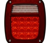 Custom Pilot LED Jeep Wrangler Tail Lamp With Connector,91-97,Passenger Side NV-001FO