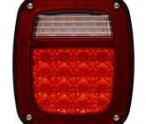 Custom Pilot For 91-97 Jeep Wrangler LED 12v Driver Side Tail Light Lamp w/ Connector