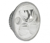 Custom Vision X 7in. Single Chrome Round Vortex LED Headlight With Halo - XMC-7RD