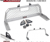 Custom DZ95050WR Dee Zee Mesh Aluminum Headache Rack for Ford Super Duty 1999-2016