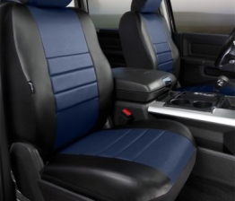 Custom Fia SL67-18BLUE LeatherLite Custom Seat Cover Fits 04-08 F-150 Mark LT