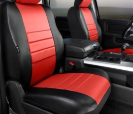 Custom Fia SL67-18RED LeatherLite Custom Seat Cover Fits 04-08 F-150 Mark LT
