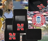 Custom Pilot Bully Officially Licensed Collegiate Floor Mats - Nebraska Huskers