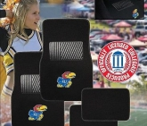 Custom Pilot Bully Officially Licensed Collegiate Floor Mats - Kansas Jayhawks