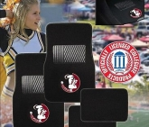 Custom Pilot Bully Officially Licensed Collegiate Floor Mats - Florida State Seminoles