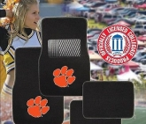 Custom Pilot Bully Officially Licensed Collegiate Floor Mats - Clemson Tigers