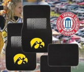 Custom Pilot Bully Officially Licensed Collegiate Floor Mats - Iowa Hawkeyes