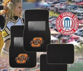 Custom Pilot Bully Officially Licensed Collegiate Floor Mats - Oklahoma State Cowboys