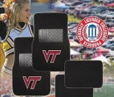Custom Pilot Bully Officially Licensed Collegiate Floor Mats - Virginia Tech Hokies
