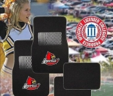 Custom Pilot Bully Officially Licensed Collegiate Floor Mats - Louisville Cardinals