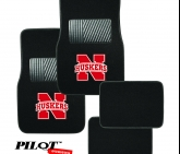 Custom College Football Floor mats University of Nebraska Huskers Cornhuskers 4 Pieces