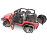 Custom BedRug Jeep 7PC Combo Kit Front & Rear Liners for 97-06 Wrangler TJ W/O Console
