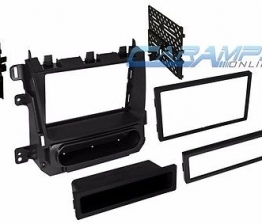 Custom DOUBLE SINGLE DIN CAR STEREO RADIO DASH INSTALL MOUNTING INSTALLATION TRIM KIT