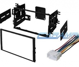 Custom DOUBLE 2 DIN CAR STEREO RADIO DASH INSTALLATION MOUNTING KIT W/ WIRING HARNESS