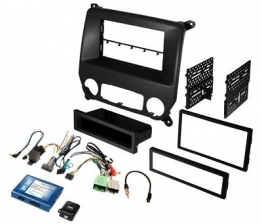 Custom For Chevy Silverado 3500 15 Stereo Dash Kit Single/Double DIN Black Stereo Dash