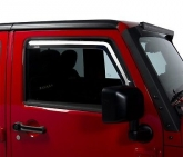 Custom Putco 580228 Element Tinted Window Visor In Channel Fits 14-18 Wrangler (JK)